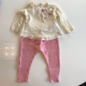 Zara baby girl's long sleeve t-shirt and joggers